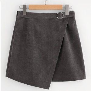 O-Ring Belt Detail Cord Wrap Skirt -NEVER WORN